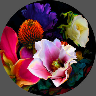 "colorful art: ""bloom v7.5"" by René Twigge"