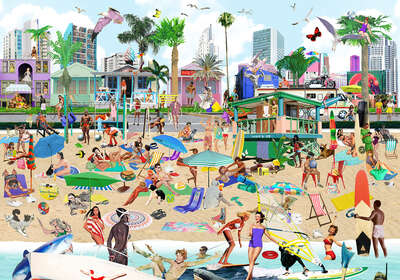 pop artworks by Renaud Delorme: Venice Beach by Sanda Anderlon