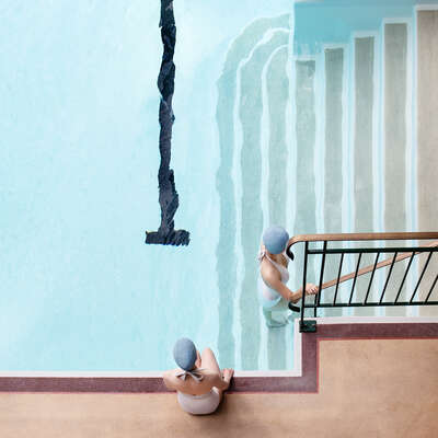 conceptual photography:  Swim Girls at Molitor by Soo Burnell