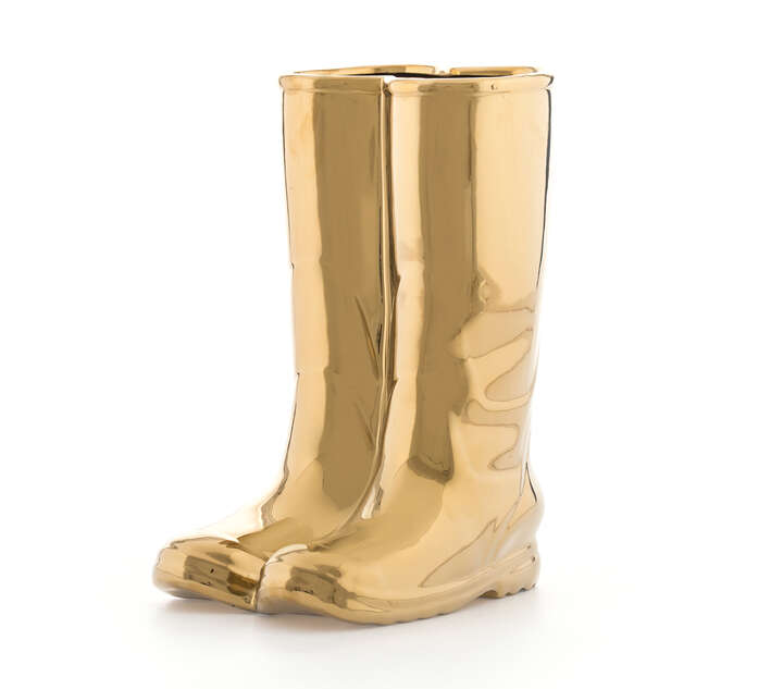 My Golden Rainboots by Seletti
