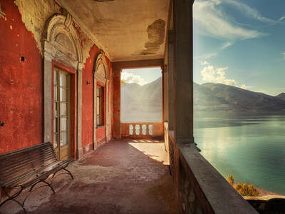 Kitchen Wall Art: Sul Lago by Sven Fennema