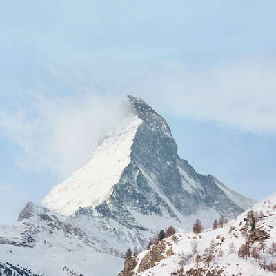 Living Room Wall Art: o.t. (Matterhorn) by Stephanie Kloss