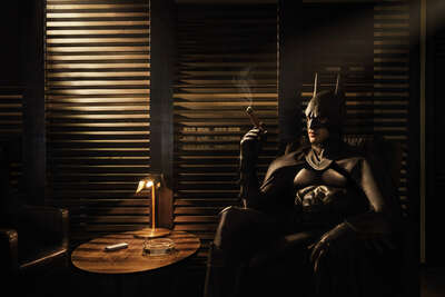 figurative art:  Cigar Lounge by Sebastian Magnani