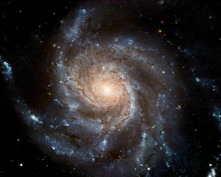 Pinwheel galaxy (NASA/ JPL - Caltech) by Hubble Telescope