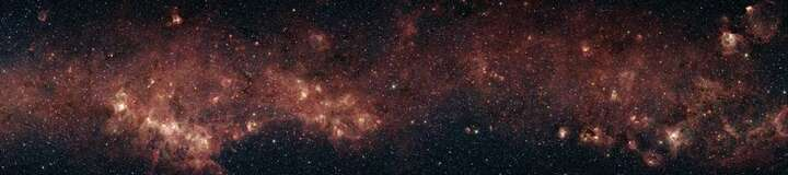 Spitzer Telescope: Milky Way (NASA/JPL-Caltech/E.Mercer, Boston University) von Hubble Telescope