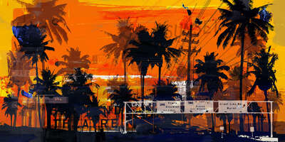 Los Angeles City Art: Venice Beach IV by Sven Pfrommer