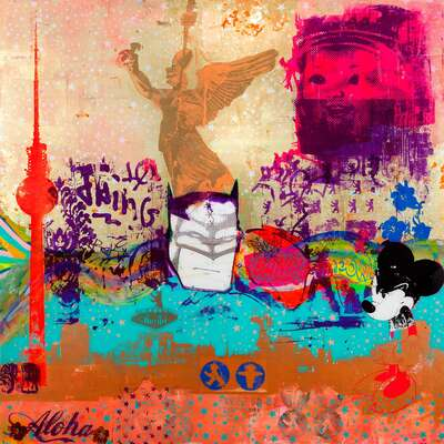 Abstract Wall Art  Berlin Big Bang by Sandra Rauch