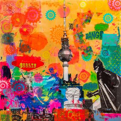 curated collage  artworks: Berlin Pin by Sandra Rauch