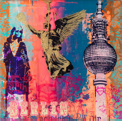 pop artworks by Sanda Anderlon: Berlin by Sandra Rauch