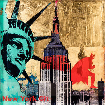 Abstract Wall Art  New York by Sandra Rauch