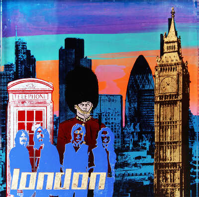 City Wall Art  London by Sandra Rauch