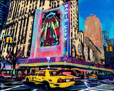 Lumas absract art prints Prints:: Radio City Hall by Sandra Rauch