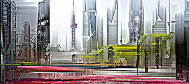 Shanghai Projections IV by Sabine Wild