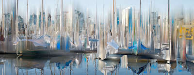 abstract photography:  Vancouver Projection I by Sabine Wild