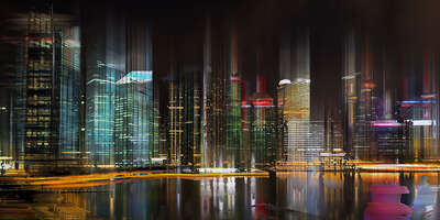 Singapore Projection III by Sabine Wild