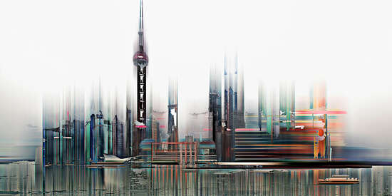 Shanghai Projections II by Sabine Wild. Buy pictures & photo art ...