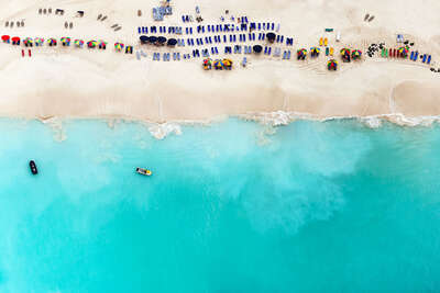 aerial beach photography by Tommy Clarke : Jolly Beach by Tommy Clarke