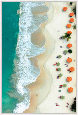Orange Umbrellas von Tommy Clarke