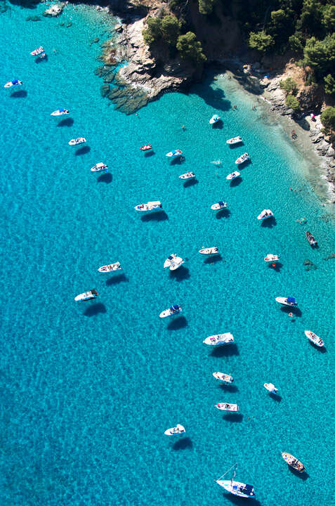 Boats in Cove by Tommy Clarke