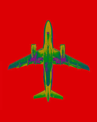 Curated red artworks: plane_06_15_12d by Thomas Eigel