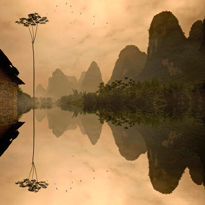Landscapes inspired by classical Chinese painting: Out of Time by Tatiana Gorilovsky
