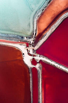 aerial landscape photography by Tom Hegen : SALT WORKS I by Tom Hegen