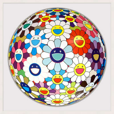 Flower Ball (3-D) Sequoia sempervirens by Takashi Murakami