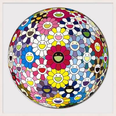 abstract photography:  Space Show by Takashi Murakami