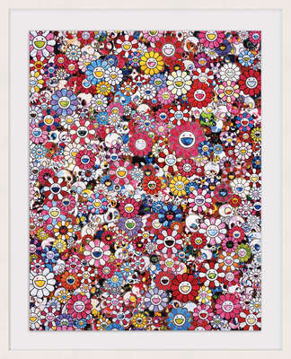 Dazzling Circus Embrace Peace and Darkness by Takashi Murakami