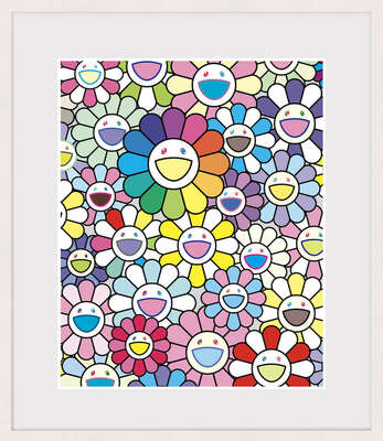 conceptual photography:  Flowers of Hope by Takashi Murakami
