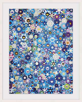 An Homage to IKB 1957 From a Set of 3                      by Takashi Murakami