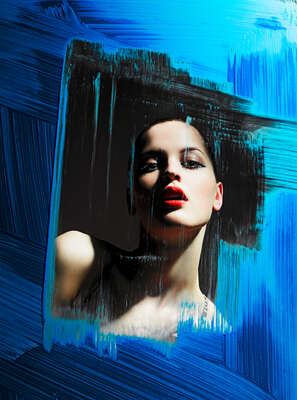 Curated blue portraits: Blue Window by Alexander Straulino | Trunk Archive