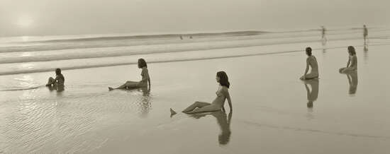 Allison, Lotte, Miranda, Maia and Vanessa; Montalivet, France, 2001 by Jock Sturges | Trunk Archive