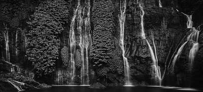 Art Prints: LUMAS black and white works: Cascade by Tirta Winata