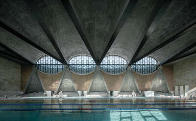 Sports wall art, Muhammad Ali:  Swimming Pool of Tianjin University II by Terrence Zhang
