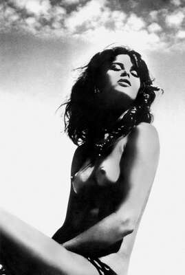 curated black and white art: Uschi Obermaier by Anonym Ii
