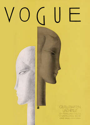 Curated abstract yellow artworks: Cover, Benito III by German Vogue Collection