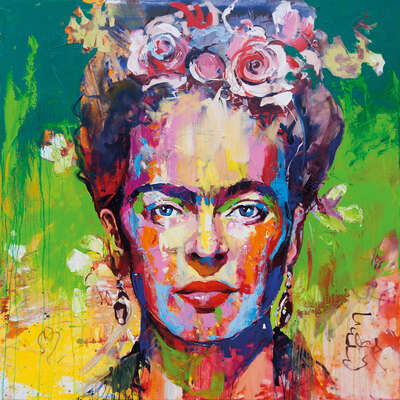 Abstract Wall Art  Frida by Voka