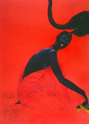 Fashion Wall Art:  African Vogue - Gold Stilettos & Black by Wolfgang Joop