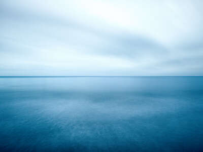 Curated blue artworks: 37°6`31.44''N 8°31'46.24''W by Wolfgang Uhlig
