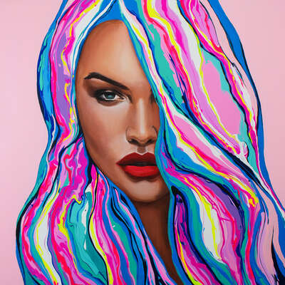 pop artworks by Freddy Reitz: Pink Passion by Yeliza