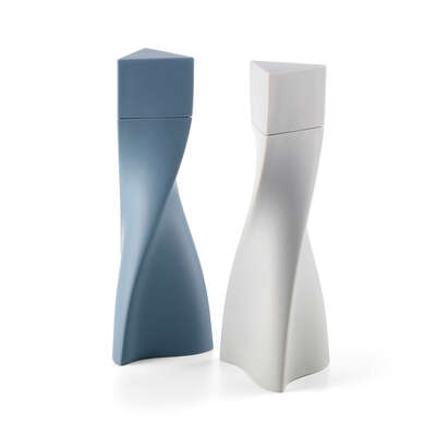 Kunstobjekt: Duo Salt and Pepper Set - Slate Black/Blue von Zaha Hadid